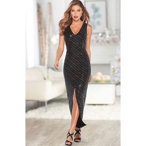 Venus V-Neck Sequin Beaded Evening Gown Dress 14